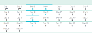Isagenix 30 day program calendar with extra cleanses